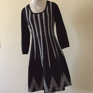 Sequin Hearts  Double Knit Sweater Dress  L junior